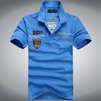 men fashion brand cotton shark Tee shirts short sleeve free drop shipping