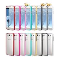 100pcs/lot 0.7mm Ultra thin Slim Aluminium Metal Bumper Frame Cover Case for Samsung Galaxy S3 i9300
