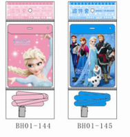 Wholesale 50 Pcs Frozen Business ID Card Student Card Holder Lanyard Elsa Anna Olaf Hans Sven Party Supplies Kids Gifts