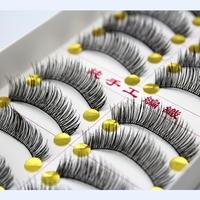 Handmade natural bare makeup false eyelashes thick section Taiwan soft and comfortable cotton stalk cross- 6 models shipping