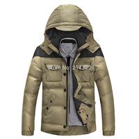 Men's new men's short down jacket afsjeep 90% white crow velvet jacket winter coats men
