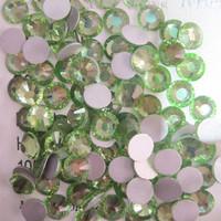 SS4(1.5mm) 1440pcs Crystal Flatback Non hot Fix 3DNail Art Decorations Glitter Glass Rhinestones DIY Nail Tools Peridot 009