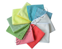 Ship From US Sunland 10pcs 12x12Inch Kitchen Dish Cloth With Poly Scour Side Kitchen Dish Towels Cleaning Rag - Assorted Color