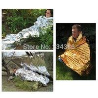 5PCS Compact Lightweight Aluminized Windproof Waterproof Emergency Blanket Body Wrap Survival Sheet for Outdoor 210 x 160cm