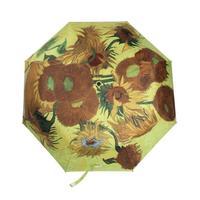 Women  Loved Painting Series Umbrellas, Van Gogh Sunflower Pattern Sunshade Umbrella Rod Nylon Cloth Metal Guarda ChuvaTQ01005