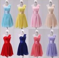 2014 sisters bridesmaid dress bride dress short design dress female colorful