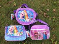 Frozen bags Children Fashion Cartoon handbags kids Small shoulder bags children day's gift children frozen purse 50pcs/Lot