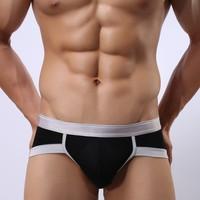 Sexy Men Briefs U convex Modal Silver Brim Man Sexy Low-Cut Briefs M4018