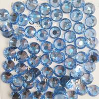 SS4(1.5mm) 1440pcs Crystal Flatback Non hot Fix 3DNail Art Decorations Glitter Glass Rhinestones DIY Nail Tools Lt.Sapphire 005