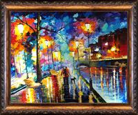 Oil paintings Home Decor Dining room/bedroom Handmade Modern Art Colorful night