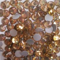 SS4(1.5mm) 1440pcs Crystal Flatback Non hot Fix 3DNail Art Decorations Shinning Glass Rhinestones Nail Tools Lt.Topaz 013