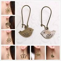 (Min order $10) Retro Antique Copper Earrings Fashion Vintage Earrings For Women 2014 NEW Handmade Jewelry