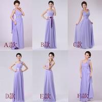 Purple Bridesmaid formal dress Floor-Length long design dress sister dress formal dress