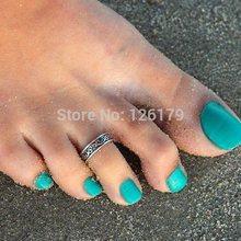 Women Lady Elegant Adjustable Antique Silver Metal Toe Ring Foot Beach Jewelry