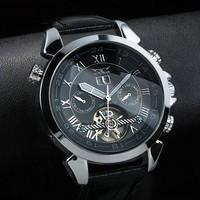 New Arrival JARAGAR fashion mechanical watch, men sports leather strap Casual watch