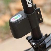 Black Excellent Security Alarm Security Anti-Theft Bicycle Steal Lock Bike Bicycle Alarm