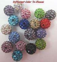 10mm hotslae new clay fashion 100pcs/lot hot mixed color white crystal Shamballa Beads bracelet diy Jewerly bead spacer