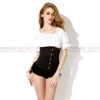 Sexy Hot Women Black Waist Trainer Corsets And Bustiers Fir Slim Body Shaper Plus Size 4xl 5xl 6xl Underwear Satin Elegant Top