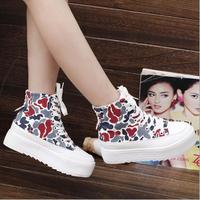 Fashion women flat shoes,women Camouflage shoes,Canvas flat heel women hot shoes,Semi-Tall women spring and autumn shoes