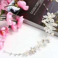 Fashion Bridal Bridesmaid Wedding  Alloy Rhinestone Flower Headband Tiara Silver Color