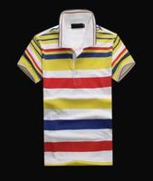 Business Men's short-sleeved T-shirt lapel England half -sleeved shirt POLO cotton summer new color bar