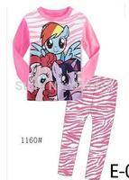 2014 baby Pajamas Kids Pyjamas Baby Cartoon Long sleeve Sleepwear Children Wear baby clothing 2-7Y 2pcs/set X756