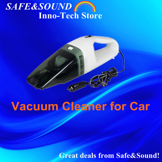 Free Shipping 60W Strong Suction Mini 12V Wet and Dry Dual-use Portable Handheld Car Vacuum Cleaner Brand New(China (Mainland))
