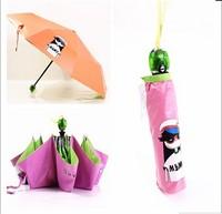 New Arrival Automatic Umbrella, cute candy color Marc print Auto open and close UV prevent three folds umbrellas