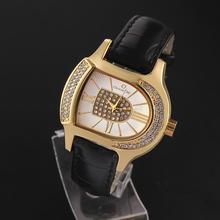 Moda Casual Relógio de pulso da forma irregular dos homens novos relógios Alloy Rodada Analógico Banda PU Quartz Watch Factory Direct(China (Mainland))