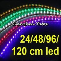 5pcs Super flexible 24CM 24-LED transparent PVC Soft Light Strip Lamp
