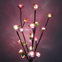 Tree light decoration lamp high artificial led tree light 0.6 meters tree light big red flower roses flower