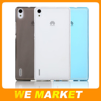 Bepak Budding Magic SR Ultra Thin Transparent TPU Shield Case For Huawei Ascend P7 Silicon Shell 1Pc Free Shipping