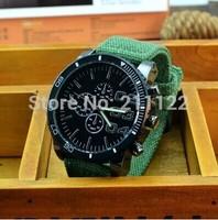 brand fashion Military Quartz  Canvas Strap Fabric Watch Men Ourdoor Sport Wristwatch Male Clock 4 color