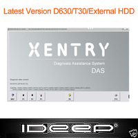 Latest Version D630/T30/External HDD Hard Disk Software for MB Star C3/C4 SD C4+Xentry/DAS