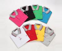 2014 summer short-sleeved male Korean men Slim lapel short-sleeved shirt tide