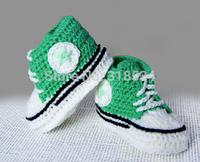 New Custom made Crochet baby shoes -unique sneakers -crochet booties - babyshower - newborn - baby girl - baby boy - crochet