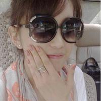 Free Shipping 2014 New Female Metal Rimmed Glasses Large Frame Sunglasses Wholesale #B-28