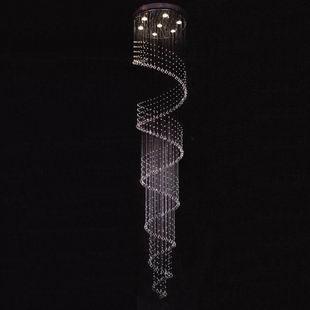 Engenharia moderna ondulado lustre de cristal escada espiral lustre do hotel penthouse luzes da escada l?mpada(China (Mainland))
