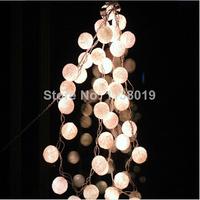 20 White/Off White Cotton Balls String Lights Fairy,Home/Patio Deco