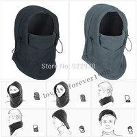 6 in 1 Thermal Fleece Balaclava Hood Police Swat Ski Skiing Bike Cycling Windproof outdoor Face Mask free shipping