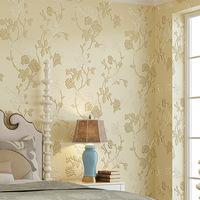 European pastoral Floral 3D thick woven wallpaper warm wedding room bedroom living room TV backdrop wallpaper