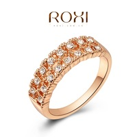 Roxi fashion jewelry austria crystal gold plated double  ring  2010002225
