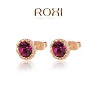 Accessories fashion rose red roxi xuelian flowers stud earring   2020014210-C