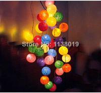 string bulb Aladin 20 COLORFUL Multicolor Cotton Balls String Lights Fairy,Home/Patio Weddings XMAS Decoration, 3m