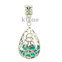 1 Piece ,2014 New Arrival 925 Silver Bead,Water Drop Pendants Fit Pandora Charms Bracelets,necklaces & pendants,SPP027,10 Colors