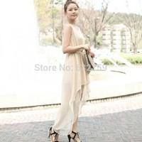 Summer bohemia plus size chiffon one-piece dress white beach dress y
