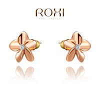 Roxi jewelry earring austria crystal gold plated flower stud earring   2020280150