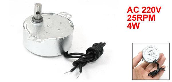 Двигатель переменного тока Synchronous Motor TYC50 220 25 /4w CCW/CW 11rpm 70ktyz 20w 220 240v 50 60hz ac synchronous gear motor cw ccw reversible electric projector screen long lifespan