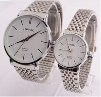 Long Bo authentic new couples business on the table Simple fashion temperament quartz waterproof steel band watch 8810 b