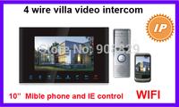 10 inch  4 wire valli IP WIFI  Video Door Phone Intercom System Doorbell built-in power supply